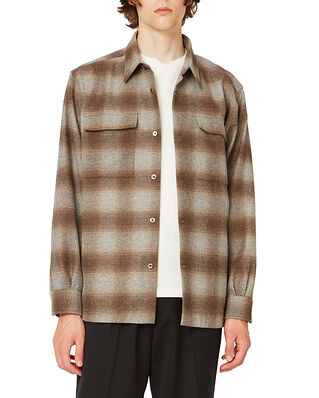Hope Base Over Shirt Beige Check