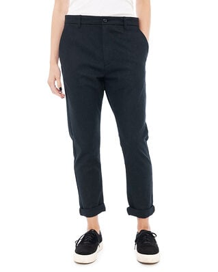 Hope News Edit Trousers Black Melange Stripe