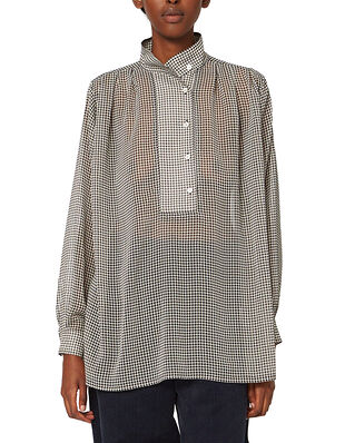 Hope Pearl Shirt Beige Dogtooth