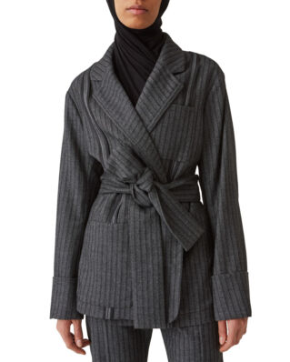 Hope Asza Blazer Grey Stripe