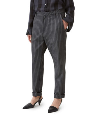 Hope News Trousers Grey Pinstripe