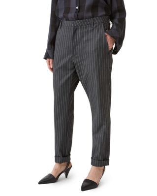 Hope News Trousers Grey Pinstripe