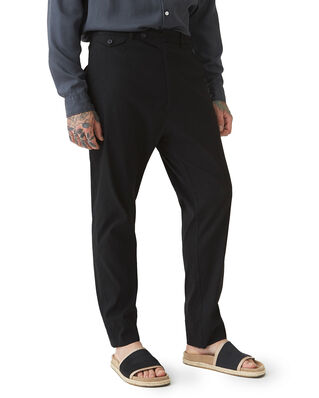 Hope Edwin Trousers Black Slub
