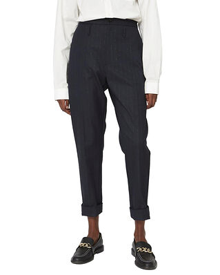 Hope Law Trouser Dk Navy Lurex Stripe