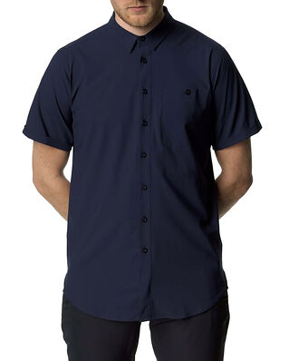 Houdini M's Shortsleeve Shirt Blue Illusion