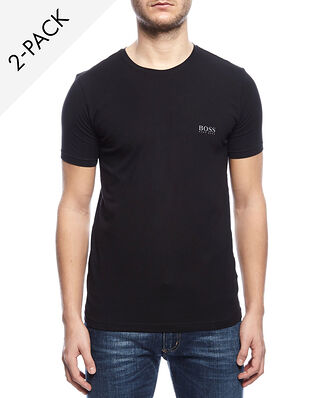 BOSS Crew neck t-shirt cotton stretch 2-Pack black