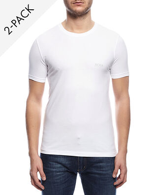 BOSS 2-Pack Crew Neck T-shirt Cotton Stretch White