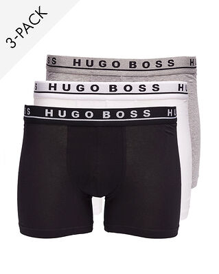 BOSS 3-Pack Boxer Brief White/Black/Grey