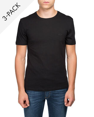 Hugo Boss  3-Pack Crew Neck T-shirt Black