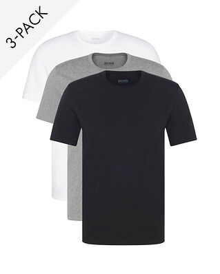 Hugo Boss  3-Pack Crew Neck T-shirt Black/White/Grey