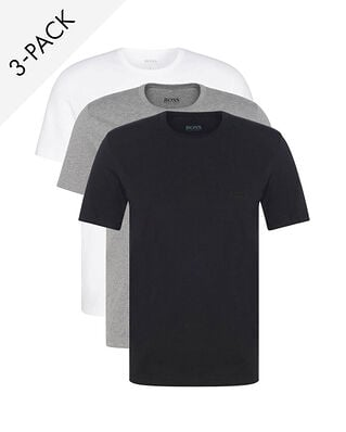 BOSS 3-Pack Crew Neck T-shirt Black/White/Grey