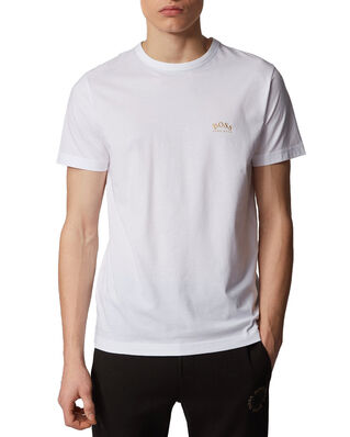 BOSS Tee Curved 10213473 01 Open White