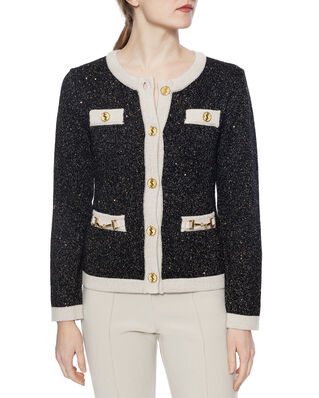Ida Sjöstedt Noble Cardigan Black/Cream/Gold
