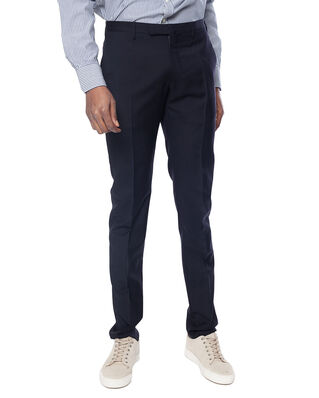 Incotex Incotex Slim Fit Wool Trousers Blu Scuro