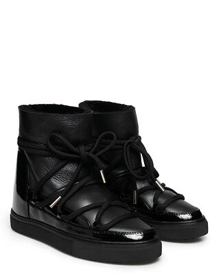 INUIKII Sneaker Gloss Wedge Black