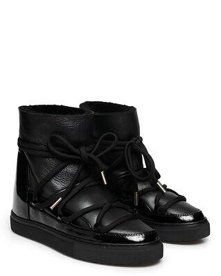 INUIKII Sneaker Gloss Wedge Black