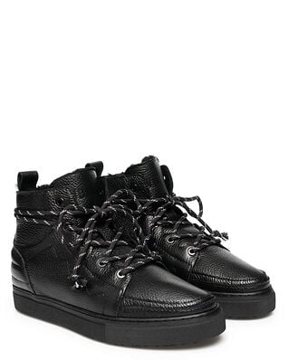INUIKII Men Sneaker Low Top Leather Black