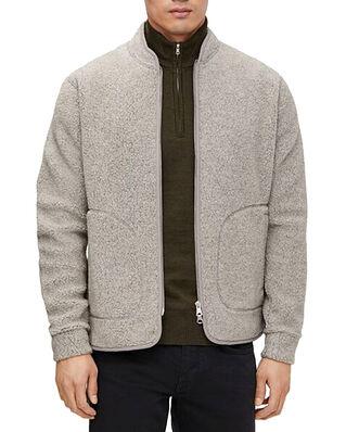 J.Lindeberg Duke Wool Fleece Jacket Grey Melange