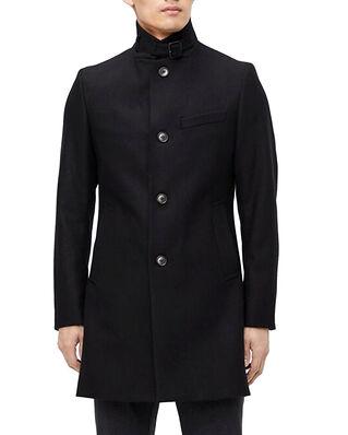 J.Lindeberg Holger Compact Melton Coat Black