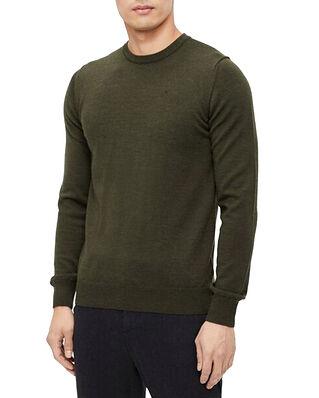 J.Lindeberg Lyle Merino Crew Neck Sweater Moss Green