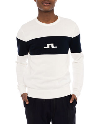 J.Lindeberg Park Bridge Crew Neck Sweater Cloud White