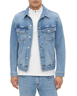 J.Lindeberg Ran Sky Wash Denim Jacket Light Blue