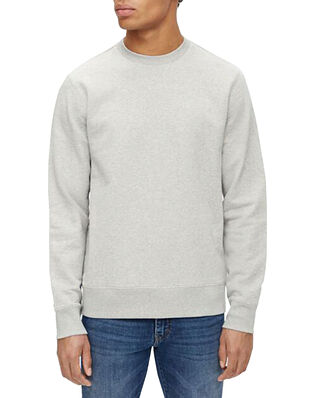 J.Lindeberg Throw C-neck Sweatshirt Grey Melange