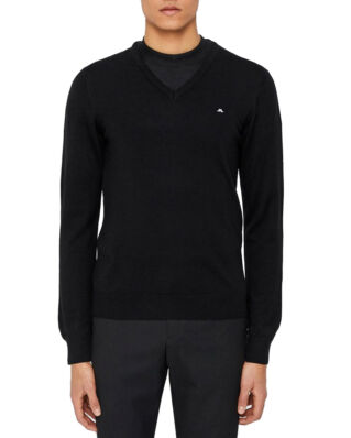 J.Lindeberg Lymann true merino black knit sweater