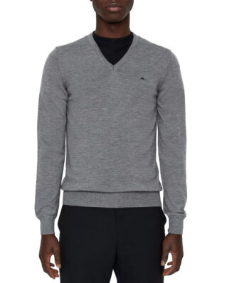 J.Lindeberg Lymann true merino grey melange knit sweater