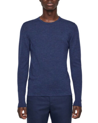 J.Lindeberg Newman C-neck Perfect Merino Mid Blue