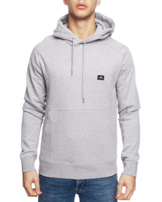 J.Lindeberg Throw Hood Ring Loop Sweat Lt Grey Melange