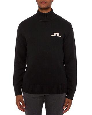 J.Lindeberg Becker Mock Neck Sweater Black