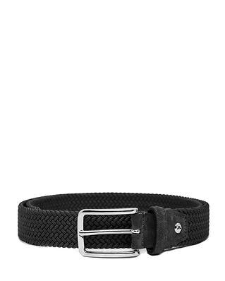 J.Lindeberg Ben Braided Elastic Belt Black