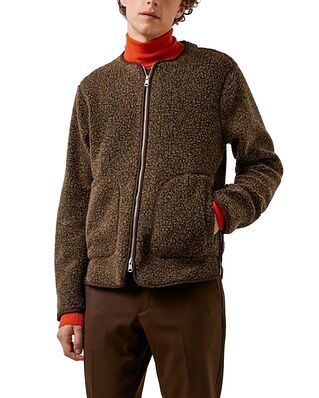 J.Lindeberg Duke Wool Fleece Jacket Umber Brown