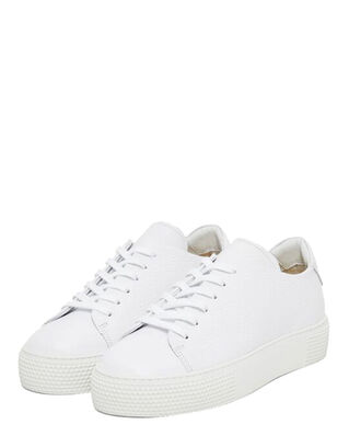 J.Lindeberg Low Lace Clean-Leather Grain White