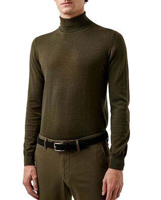 J.Lindeberg Lyd Merino Turtleneck Sweater Seaweed Green