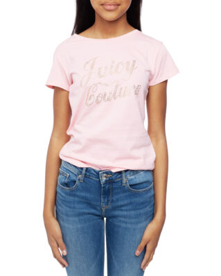 Juicy Couture Junior Branded Tee Rose Quartz