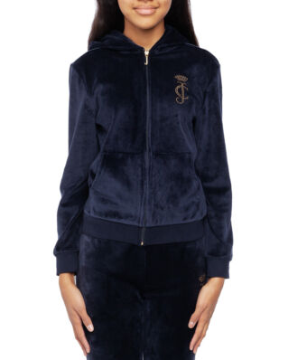 Juicy Couture Junior Velour Zip Through Regal
