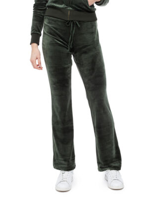 Juicy Couture Luxe Velour Del Ray Pant Dark Moss