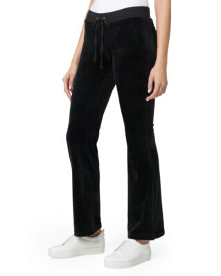Juicy Couture Luxe Velour Del Rey Pant Pitch Black