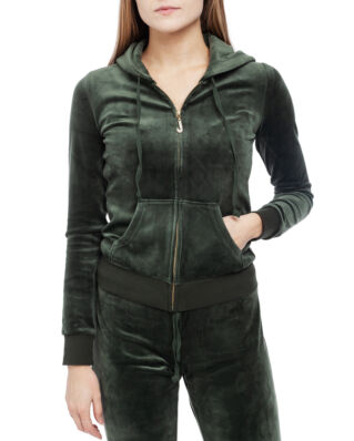 Juicy Couture Luxe Velour Robertson Jacket Dark Moss