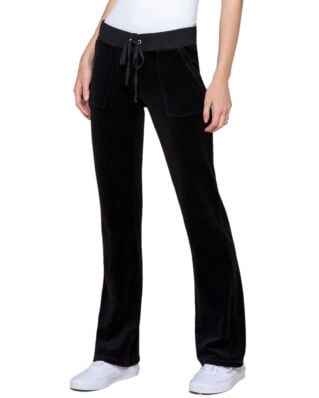 Juicy Couture Velour Del Rey Pant Pitch Black