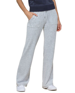 Juicy Couture Velour Del Rey Pant Silver Lining
