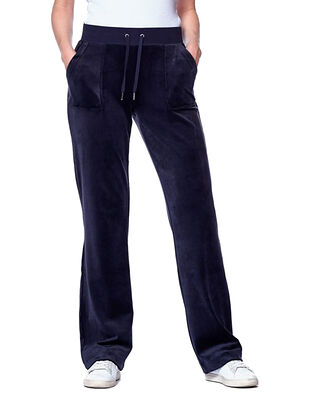 Juicy Couture Del Ray Classic Velour Pant Pocket Design Night Sky