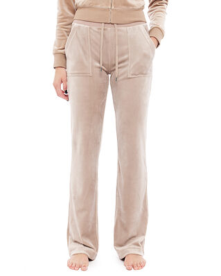 Juicy Couture Del Ray Classic Velour Pant Pocket Design Warm Taupe