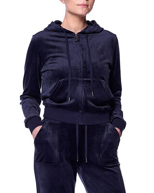 Juicy Couture Robertson Classic Velour Zip Through Hoodie Night Sky