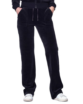 Juicy Couture Del Ray Luxe Velour Pant Pocket Design Black