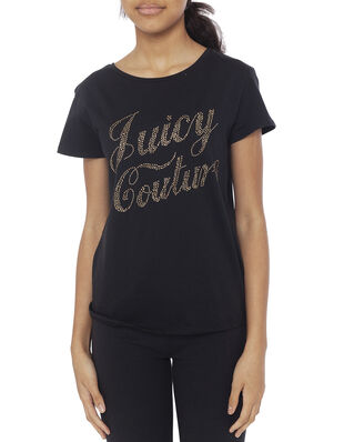 Juicy Couture Junior Branded Tee Jet Black