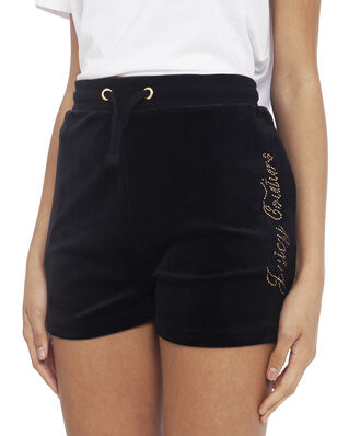 Juicy Couture Junior Juicy Luxe Velour Diamante Short Jet Black