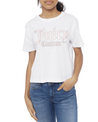 Juicy Couture Junior Juicy Pastel Box Tee Bright White